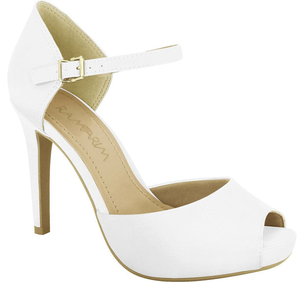 Ramarim 16-47255 High Heel Mary-Jane in White Napa