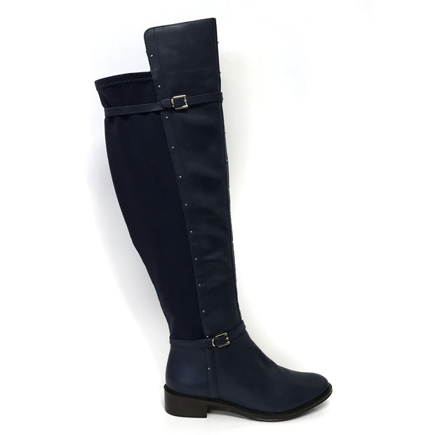 Ramarim 16-52103 Over-the-knee Long Boot in Indigo Leather