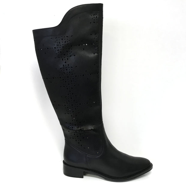 Ramarim 16-52106 Leather Long Boot in Black