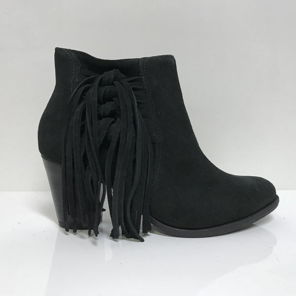 Ramarim 16-54101 Fringed Ankle Boot in Black Nubuck
