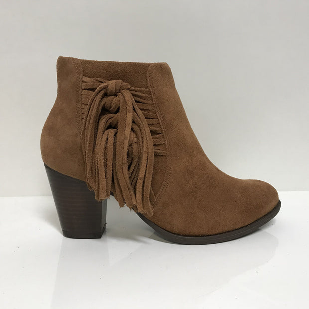 Ramarim 16-54101 Fringed Ankle Boot in Brown Nubuck