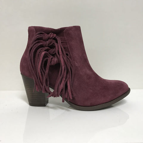 Ramarim 16-54101 Fringed Ankle Boot in Malbec Nubuck
