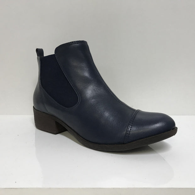 Ramarim 16-62151Low Heel Ankle Boot in Indigo Napa