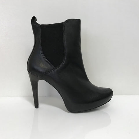 Ramarim 16-79151 High Heel Ankle Boot in Black Napa