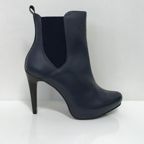 Ramarim 16-79151 High Heel Ankle Boot in Indigo Napa