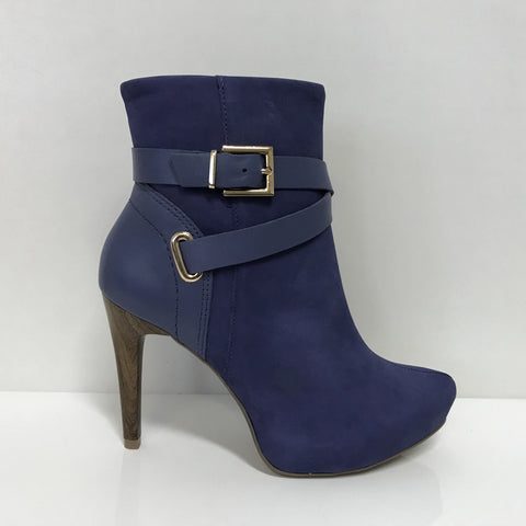 Ramarim 16-79153 High Heel Ankle Boot in Navy Nubuck