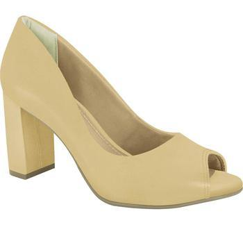 Ramarim 16-93151 Block Heel Peeptoe Pump in Almond Nubuck