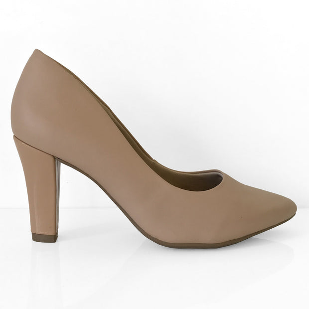 Ramarim 16-96151 Pointy Toe Pump in Almond Napa