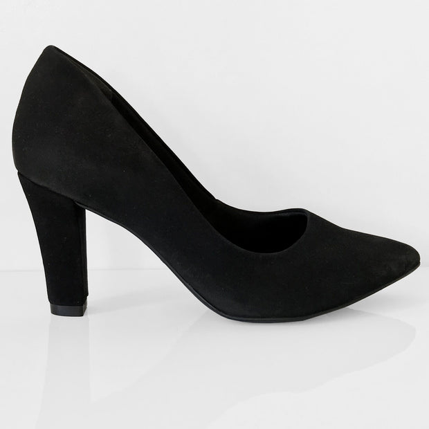 Ramarim 16-96151 Pointy Toe Pump in Black Nubuck