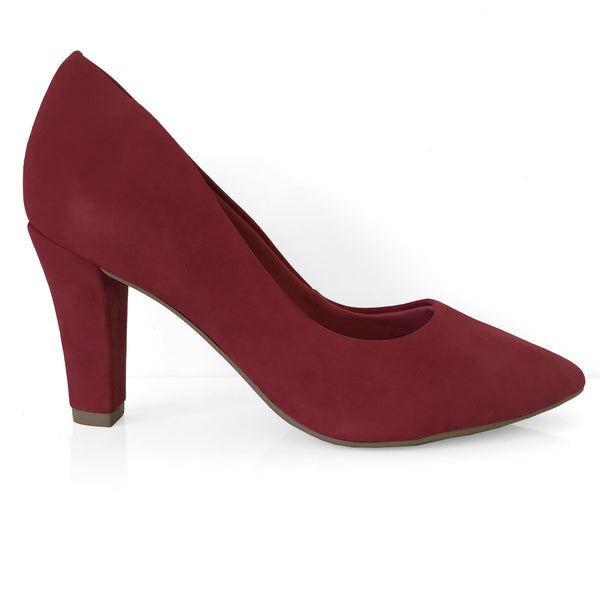 Ramarim 16-96151 Pointy Toe Pump in Cabernet Nubuck