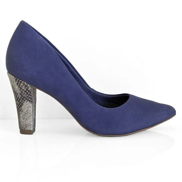 Ramarim 16-96151 Pointy Toe Pump in Navy Nubuck Heels Ramarim