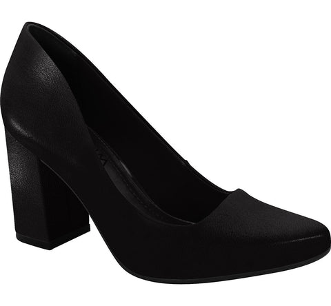 Ramarim 16-97253 Block Heel Pump in Black Napa