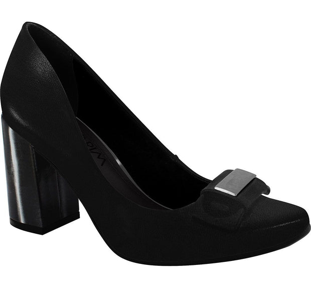 Ramarim 16-97254 Block Heel Pump in Black Napa
