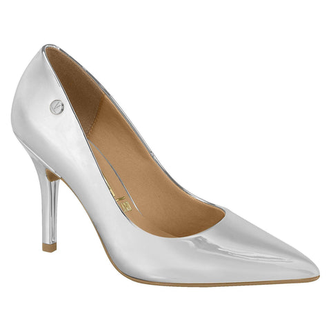 Vizzano 1184-101 Classic Pointy Toe Pump in Silver