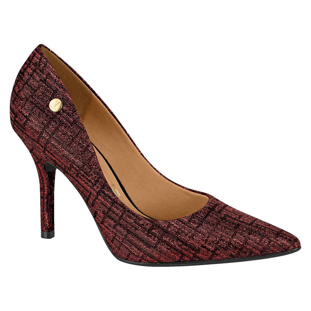 Vizzano 1184-101 Pointy Toe Pump in Multi Red Jacquard