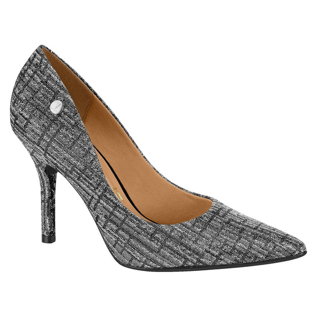 Vizzano 1184-101 Pointy Toe Pump in Multi Silver Jacquard