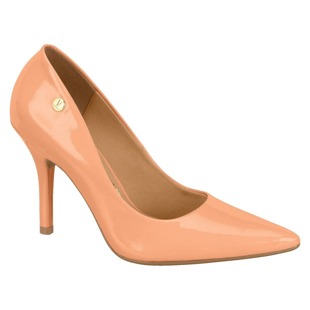 Vizzano 1184-101 Pointy Toe Pump in Peach Patent