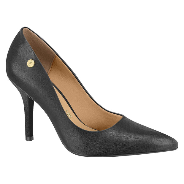 Vizzano 1184-101 Classic Pointy Toe Pump in Black Napa