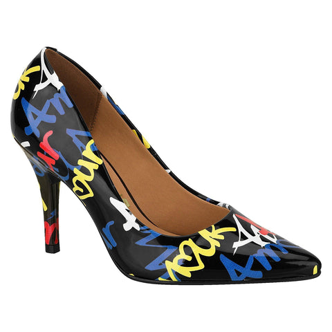 Vizzano 1184-113 Black Graffiti Heels