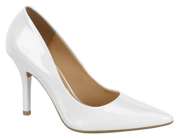 Vizzano 1184-113 Pointy Toe Heel in White Patent