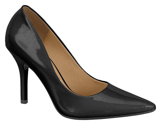 Vizzano 1184-113 Pointy Toe Heel in Black Patent
