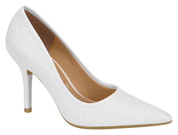 Vizzano 1184-119 Pointy Toe Pump in White Glitter
