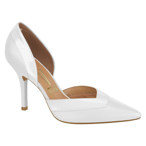 Vizzano 1184-156 Pointy Toe DOrsay Pump in White