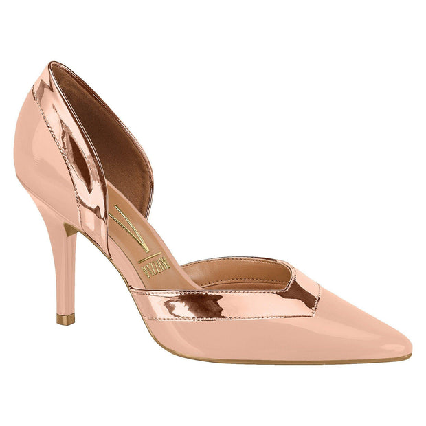 Vizzano 1184-156 Pointy Toe DOrsay Pump in Nude/Rose Gold