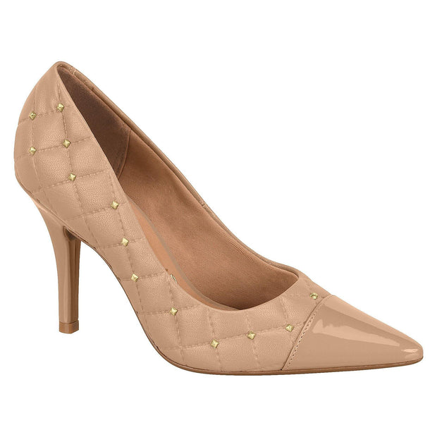 Vizzano 1184-176 Studded Stiletto Pump in Nude Napa