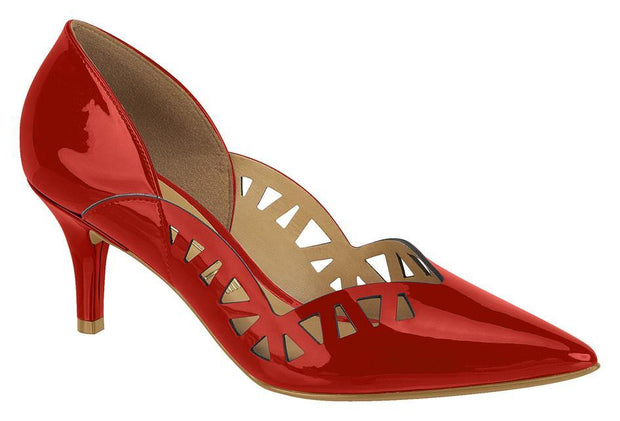 Vizzano 1185-128 Pointy Toe Low Heel Pump in Red Patent