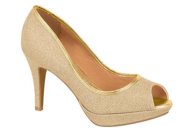 Vizzano 1200-109 Evening Peeptoe in Gold