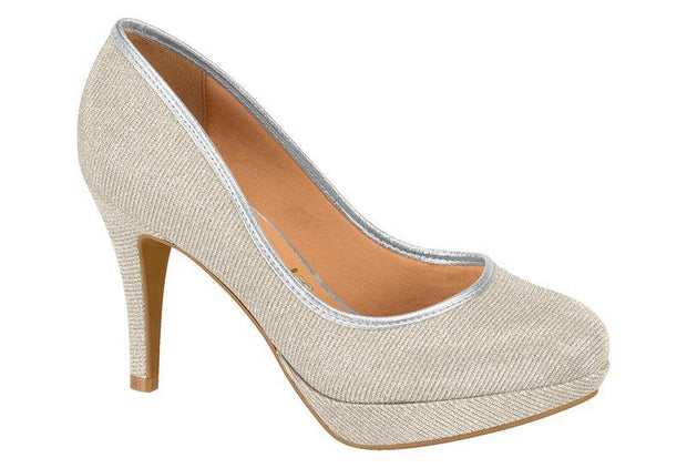 Vizzano 1200-110 Evening Pump in Silver Heels Vizzano