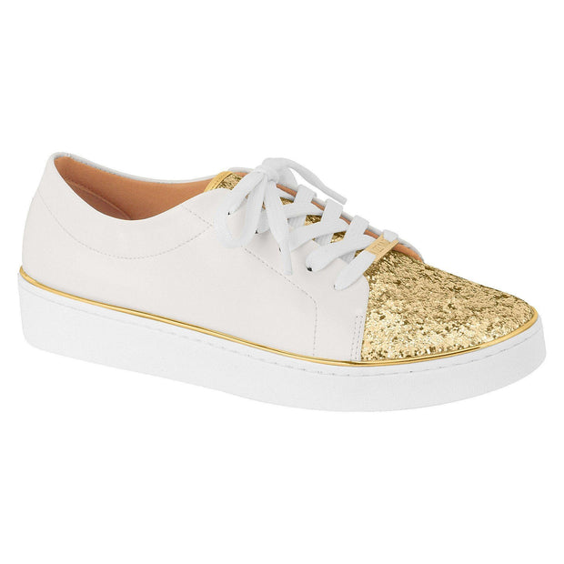 Vizzano 1214-101 White Sneaker with Gold Glitter