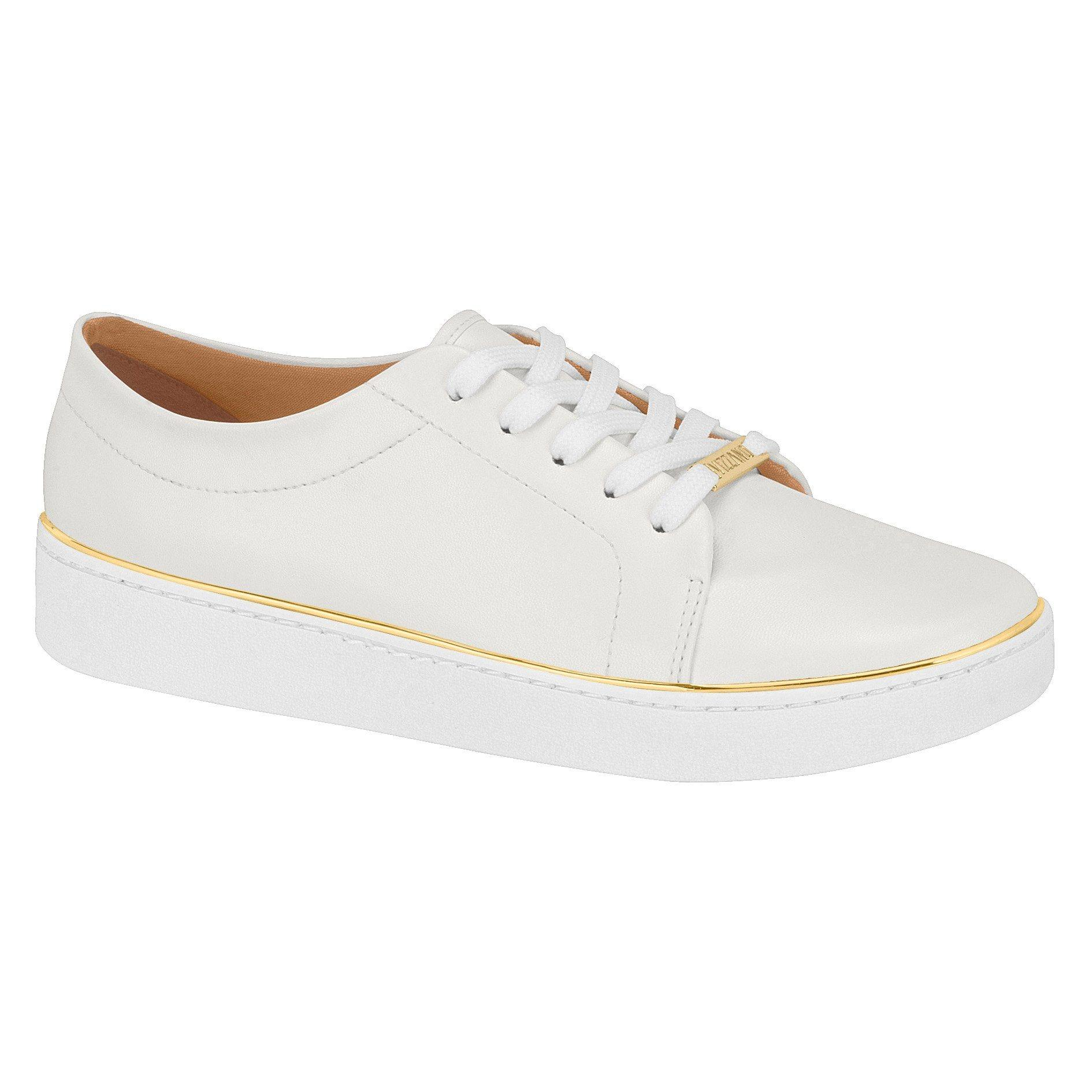 Vizzano 1214-105 White Sneaker with Gold Rim