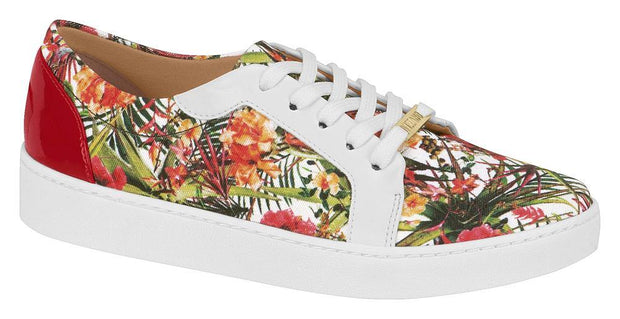 Vizzano 1214-207 Floral Sneaker in Multi White