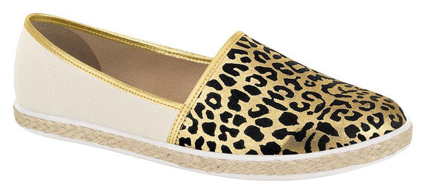 Vizzano Espadrille Loafer 1228-100 in Off White / Gold Flats Vizzano