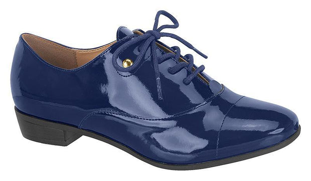 Vizzano 1229-100 Brogue Flats in Navy Patent