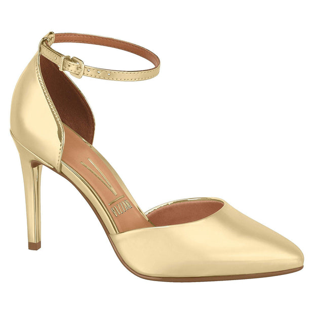 Vizzano 1235-103 Almond Toe Pump in Gold Heels Vizzano