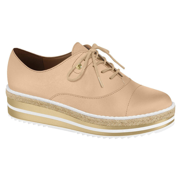 Vizzano 1241-100 Stripy Sole Sneaker in Beige
