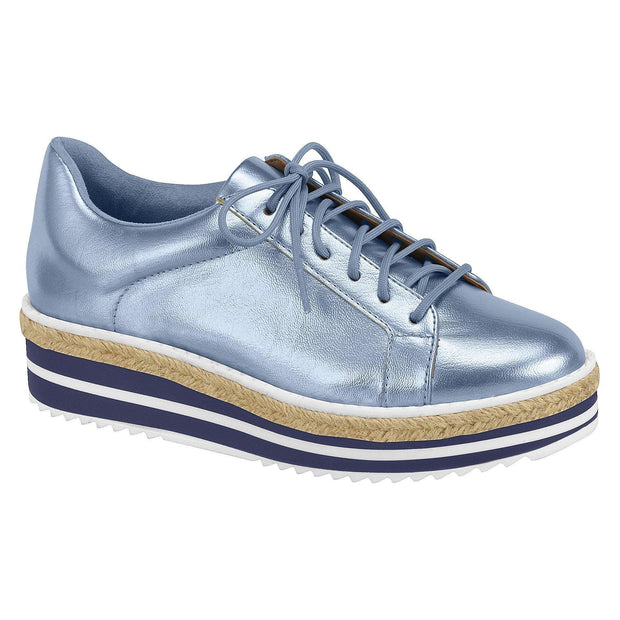 Vizzano 1241-105 Metallic Blue Sneaker with Stripy Sole