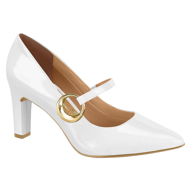 Vizzano 1253-102 Mary-Jane Pump in White Napa