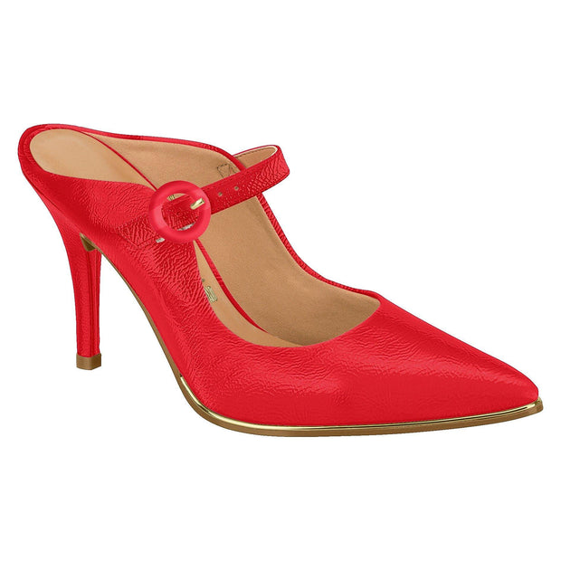 Vizzano 1267-112 Strapped High Heel Mule in Red Patent