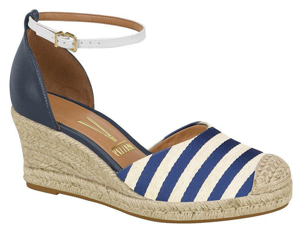 Vizzano 1277-100 Espadrille Wedge in Navy