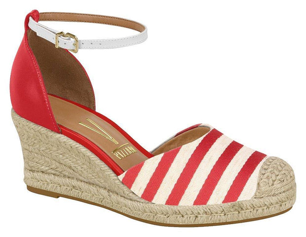 Vizzano 1277-100 Espadrille Wedge in Red