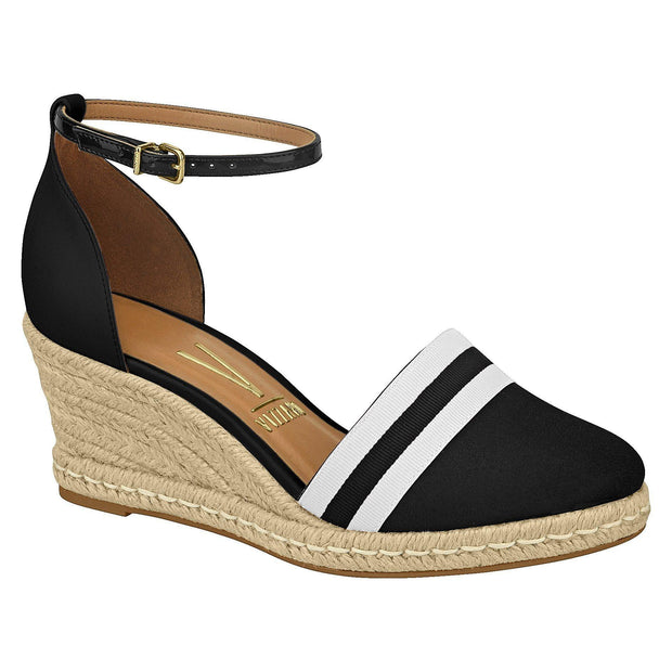 Vizzano 1277-206 Closed Toe Wedge in Black /White