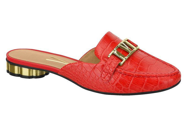 Vizzano 1280-105 Mule in Red Croc