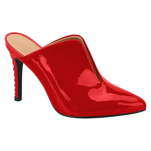 Vizzano 1289-100 Stiletto Mule in Red Patent