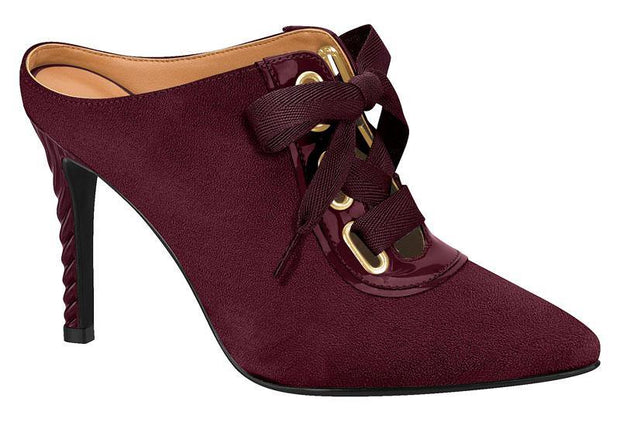 Vizzano 1289-101 High Heel Mule in Wine Suede