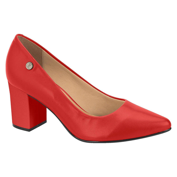 Vizzano 1290-400 Block Heel Pump in Red Napa