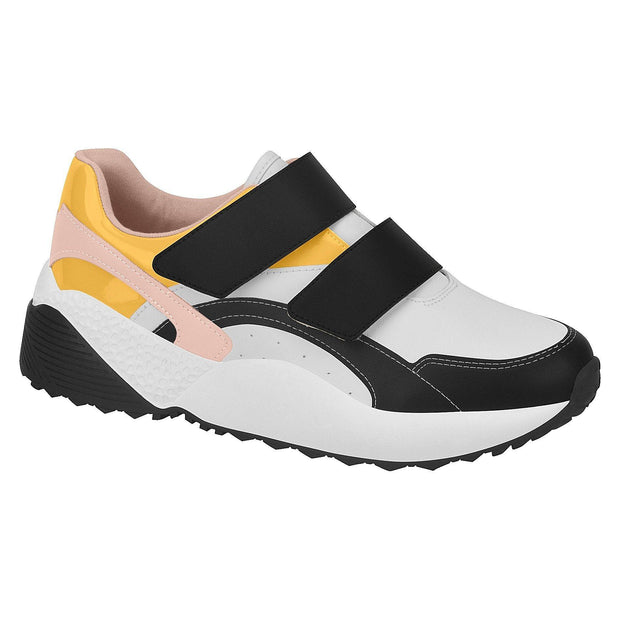 Vizzano 1296-103 Fashion Sneaker in White/Yellow/Black
